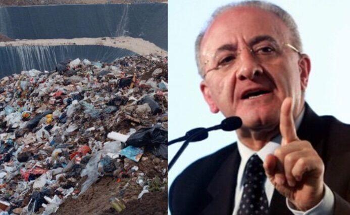 """Rifiuti, il governatore De Luca: """"Nessuna nuova discarica sul modello vecchio"""""""