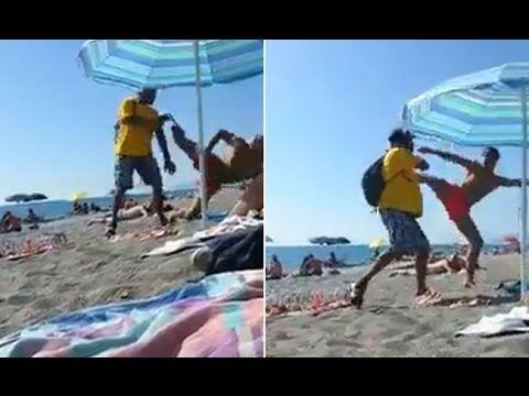 """""""Mazzate"""" sulla spiaggia con un """"vucumprà"""". Il bagnante finisce in ospedale"""