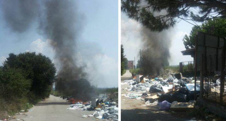 Rogo tossico sul litorale, fumo nero e aria irrespirabile nella zona lidi