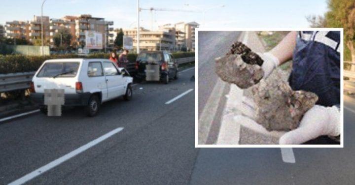 Asse mediano, sassi contro le auto: nuova trappola per gli automobilisti