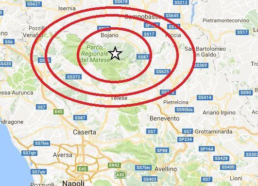 Trema la Campania, scossa poche ore fa
