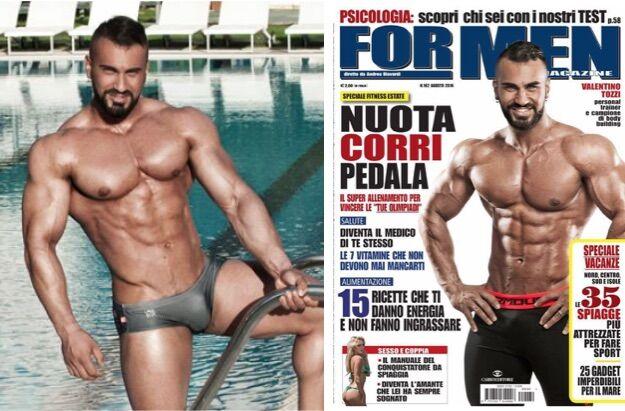 """Body building, un giuglianese in copertina sul magazine """"For Men"""" di agosto"""