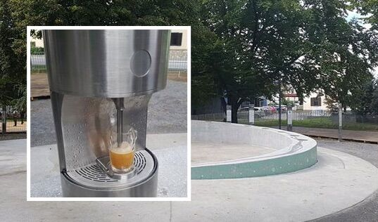 """Inaugurata la prima fontana che """"spruzza"""" birra, ecco dove è successo"""