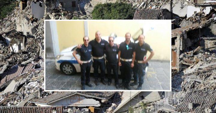 Giugliano, missione della Polizia Municipale sui luoghi colpiti dal sisma