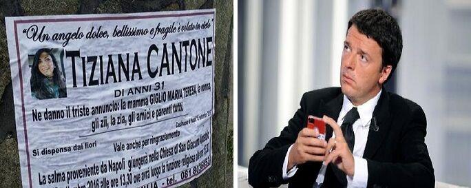 Tiziana Cantone, arriva l'intervento di Matteo Renzi