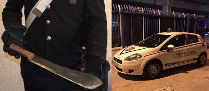 Tentata rapina in un'abitazione, uomo armato di macete bloccato dalla Union Security