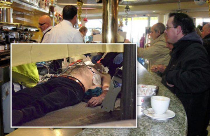 Va a prendere un caffè al bar ma si sente male e stramazza a terra