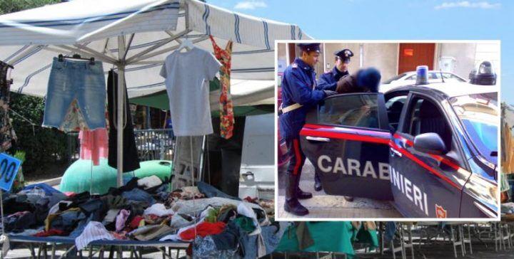 Pizzo al mercato rionale, il clan estorceva soldi alle bancarelle: blitz dei carabinieri