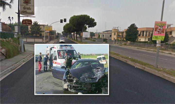 Incidente a Giugliano, due auto coinvolte. Un ferito