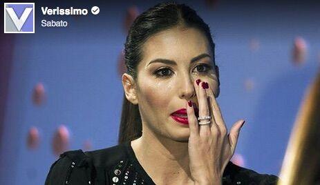 Elisabetta Gregoraci piange a 'Verissimo':