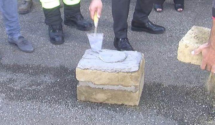 Terra dei fuochi, posata la prima pietra della caserma dei Vigili del fuoco