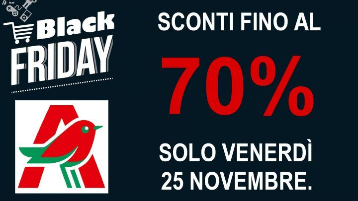 Black Friday all'Auchan di Giugliano, sconti fino al 70 %