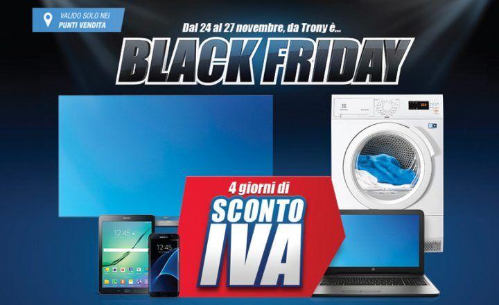 Black Friday la proposta di Trony