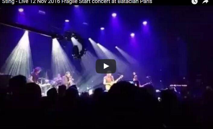 Video di Sting al Bataclan. Applausi e commozione. VIDEO