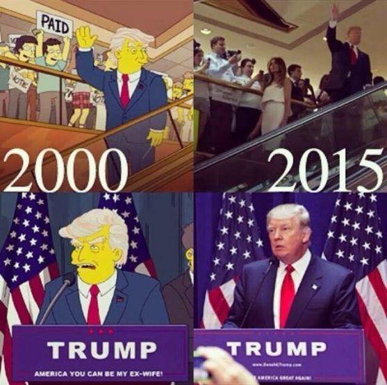 Trump presidente, i Simpson lo avevano predetto in un episodio nel 2000