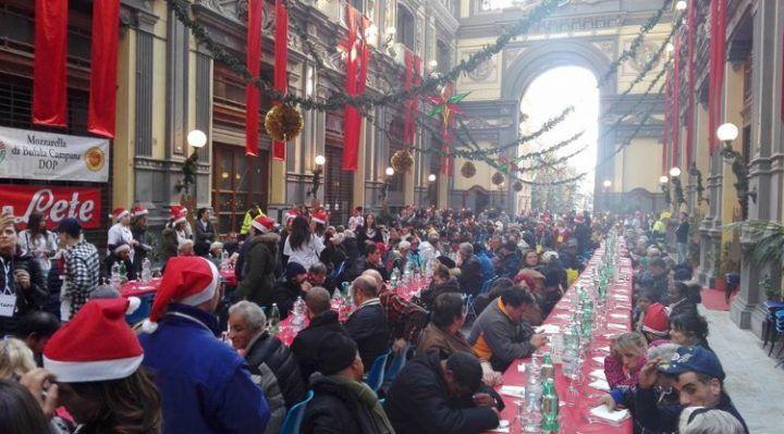 Il grande cuore di Napoli, pranzo di Natale per 1000 persone in Galleria
