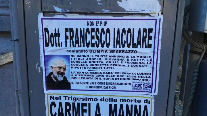 Giugliano dice addio a Franco Iacolare: lascia moglie e tre figli