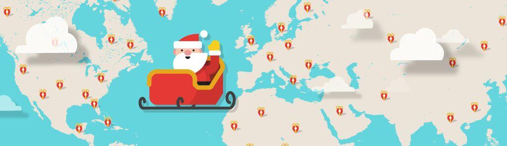 Dove Si Trova In Questo Momento Babbo Natale.Babbo Natale In Viaggio Dove Si Trova Ora Percorso Google Maps