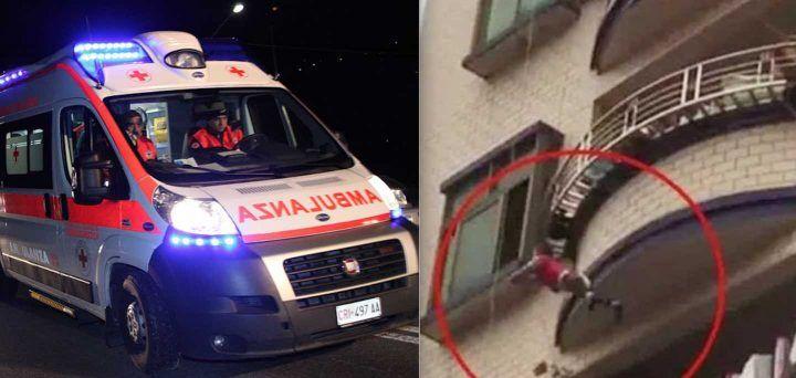 Ottaviano, ladro scivola dal primo piano: è grave in ospedale