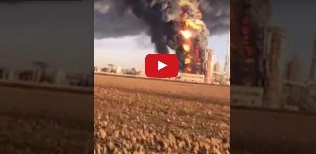 Raffineria Sannazzaro, incendio ed esplosione. VIDEO