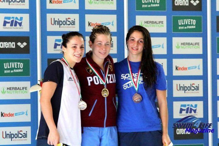 Giugliano, Flora Tavoletta sul podio ai campionati italiani di nuoto