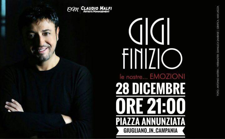 Giugliano, Gigi Finizio in concerto a piazza Annunziata