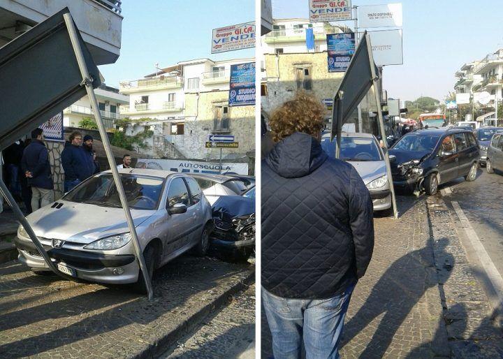 Mugnano, terribile scontro tra due auto. Donna in ospedale