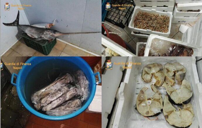 Giugliano, maxisequestro di pesce pronto per il cenone di Natale