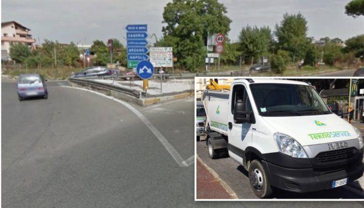 Clamorosa rapina a Giugliano, rubato il camion dei rifiuti