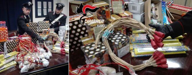 """Napoli, sequestrati 3 quintali e mezzo di botti. Arrestato 70enne con centinaia di """"cipolle"""""""