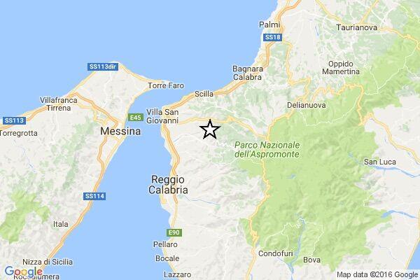Terremoto Reggio Calabria, avvertita scossa di magnitudo 3.4