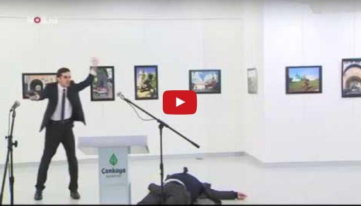 Video integrale uccisione ambasciatore russo. VIDEO