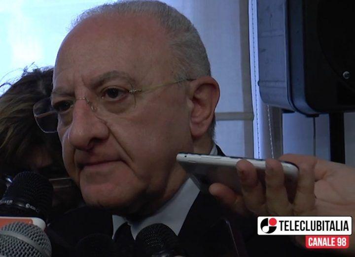 """Fondi Ue, De Luca: """"Cantieri per oltre 1 miliardo e 17 milioni per under 35"""" VIDEO"""