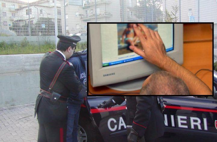 Villaricca, si masturbava in webcam davanti a minori. Arrestato