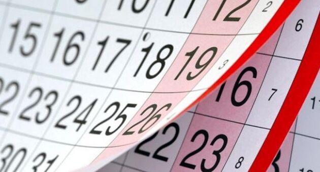 """Calendario 2017. Festività: Pasqua, Carnevale, Ferragosto, """"ponti"""""""