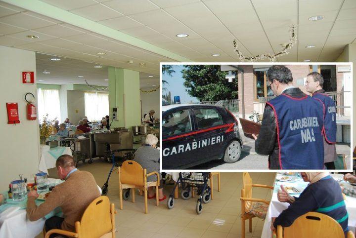 Giugliano, alimenti insudiciati nella casa anziani ed altre irregolarità: blitz dei carabinieri