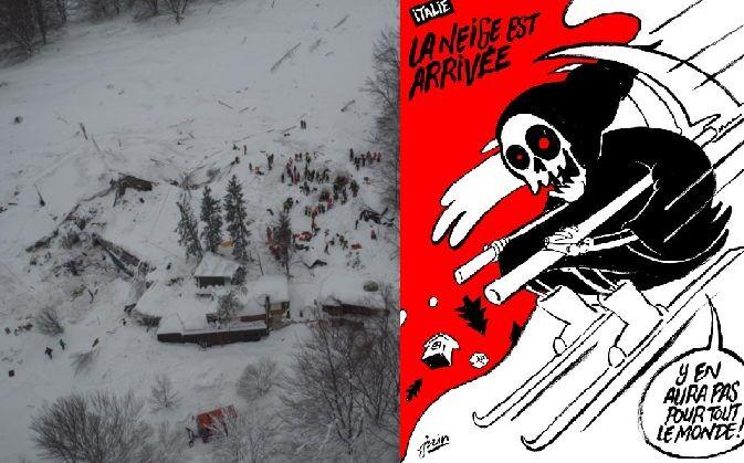 Charlie Hebdo Abruzzo: nuova vignetta sulla neve indigna il web
