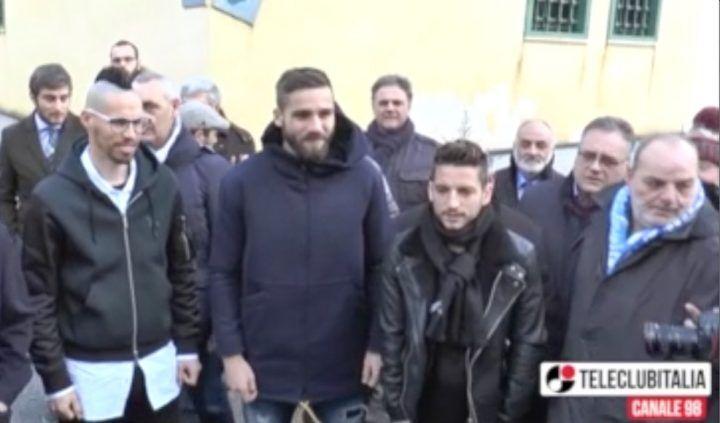 Hamsik, Mertens e Pavoletti a Nisida: regali e pizze per i giovani detenuti
