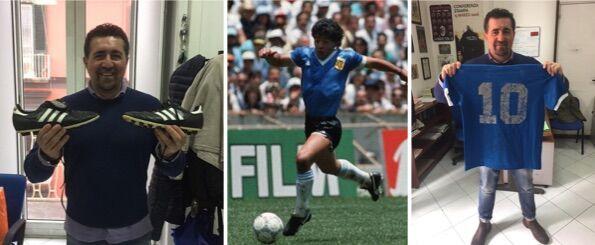"""Maradona a Napoli, rubata maglietta della """"Mano de Dios"""": denunciato"""