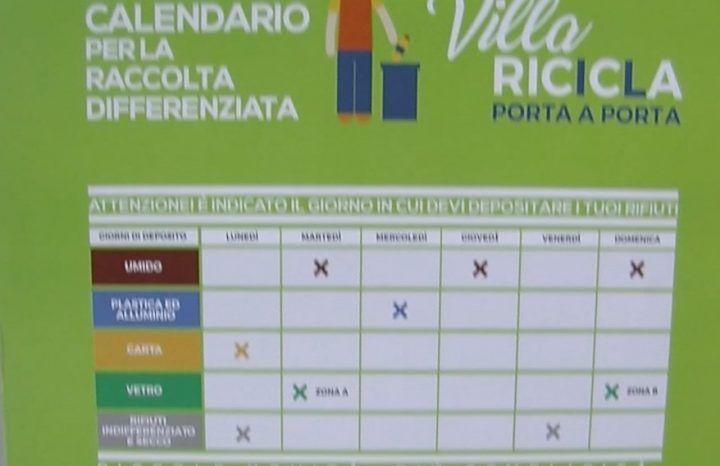 Villaricca, presentato il nuovo calendario della raccolta differenziata. Ecco le novità