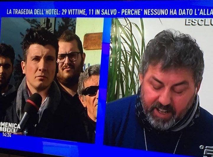 """Rigopiano, la rabbia del padre di Stefano Feniello: """"Vi faccio passare i guai"""""""