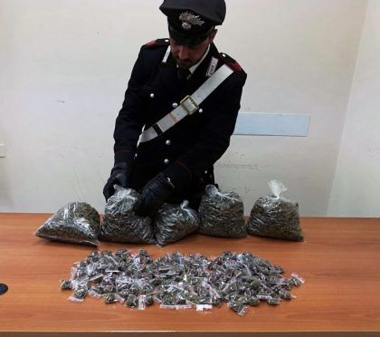 08.02.2017 - arresto marijuana villaricca