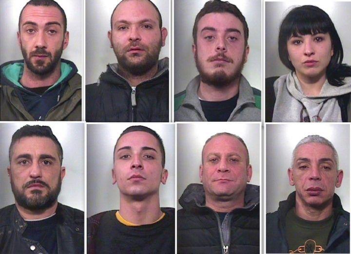 Capua, 8 arresti per spaccio. Nomi e foto dei componenti della banda