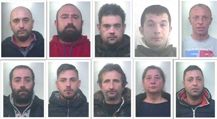 Maddaloni, scoperta piazza di spaccio: dieci arrestati. I nomi, foto, video