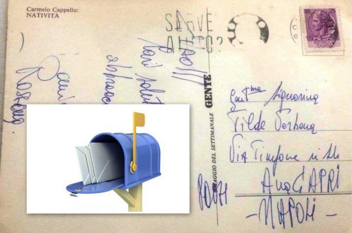 Capri: spedisce una cartolina di Natale che arriva dopo 43 anni