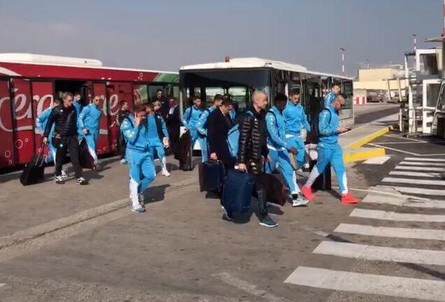 Real Madrid Napoli, gli azzurri tornano in città