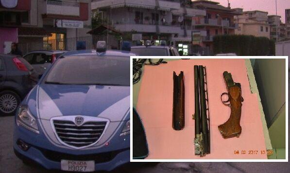 Giugliano, controlli e perquisizioni della polizia ai pregiudicati. Sequestrato fucile