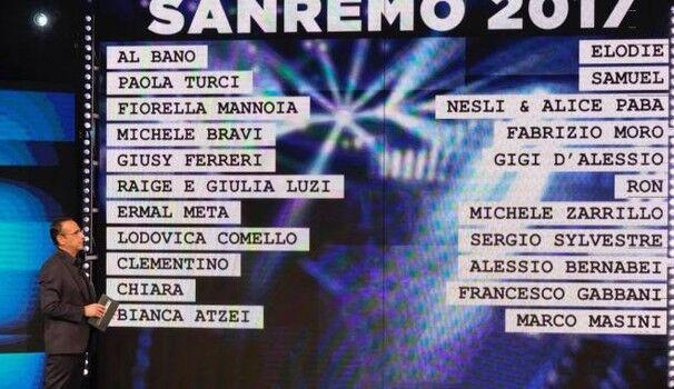 Chi sono i cantanti di Sanremo 2017: lista big, giovani, ospiti serate