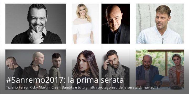 Scaletta prima serata Sanremo 2017: ospiti, nomi, cantanti in gara