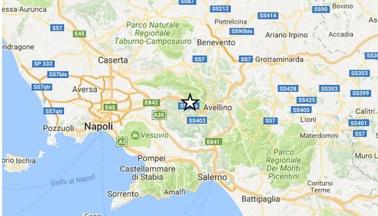 INGV / Terremoto ad Avellino, scossa di magnitudo 2.1